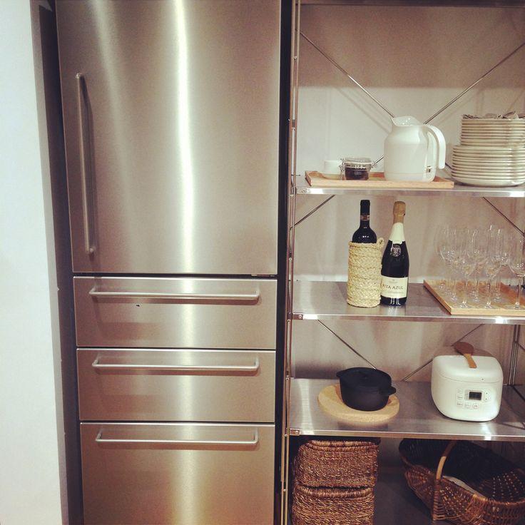 Muji 冷蔵庫 ステンレス 冷蔵庫 ステンレス 無印良品 棚 ユニットシェルフ