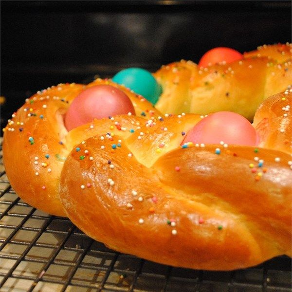 """Braided Easter Egg Bread 