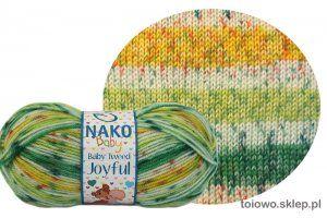 włóczka Nako Baby Tweed Joyful - zielona
