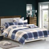 Found it at Temple & Webster - Checkered Dreamaker Printed Egyptian Cotton Quilt Cover Set