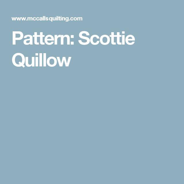 Pattern: Scottie Quillow