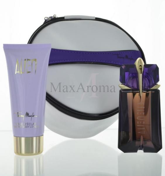 Thierry Mugler Alien  Eau de Parfum 2 oz 60 ml Spray+Radiant Body Lotion 3.4 oz 100ml plus a toiletry bag , in Gift Box    www.maxaroma.com fragrance women thierry-mugler-alien-for-women pid 9355 5?referance_price-1