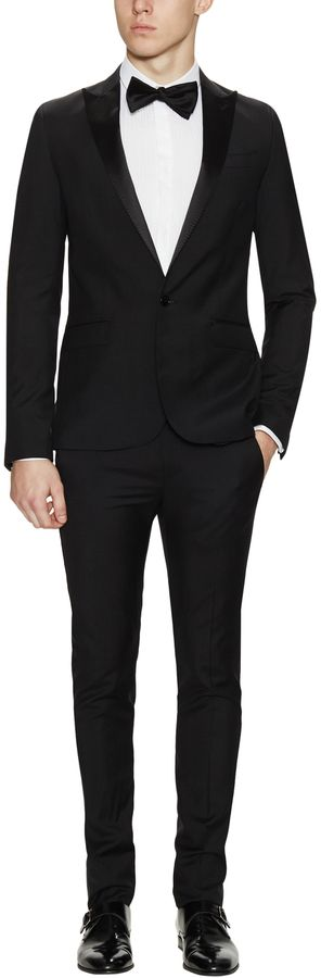 Costume National Wool Peak Lapel Suit