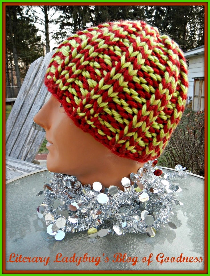 Fast and Easy knit hat - Free pattern on Ravelry.