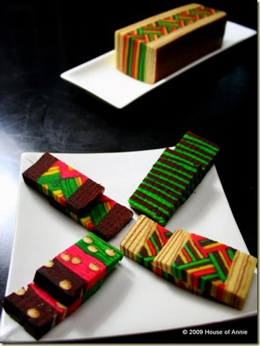 kek lapis sarawak layer cakes - copyright house of annie