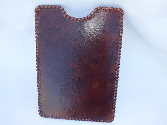 Handmade leather iPad mini case leather Nook case by CaffyLeather