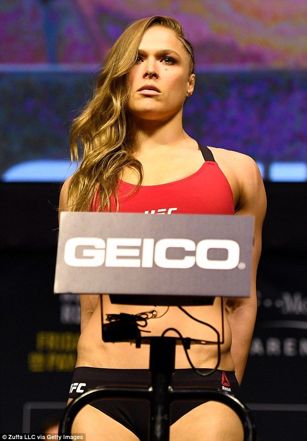 Rousey left right after the weigh-in without a word to the thousands of fans who gathered