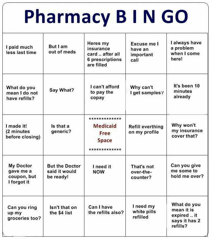 Pharmacy Bingo Fun For All Lol Funnies Pharmacy Humor
