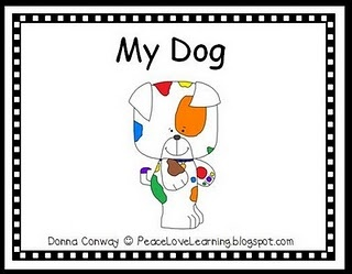An emergent reader called My Dog, and it includes a large, full color version for shared reading and a small, black and white version for independent reading.