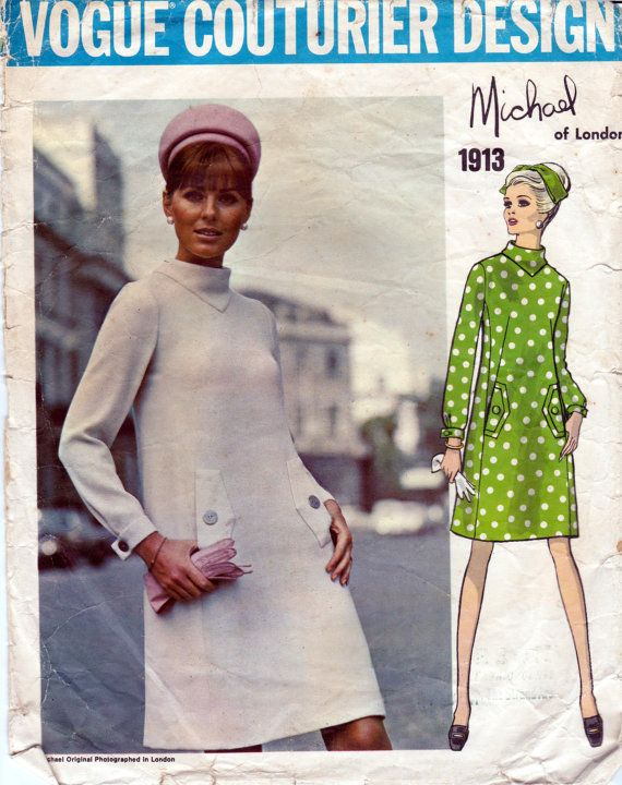 Sz 10 60s Vogue Couturier Design Sewing by allthepreciousthings, $40.00