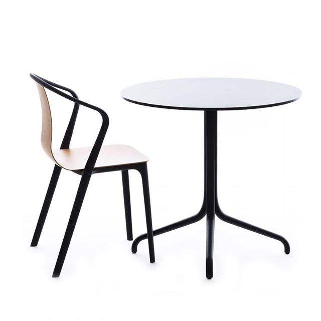 The #Belleville #armchair and #table were designed in #2015 by Ronan and Erwan #Bouroullec. It is named after the #Parisian neighbourhood where the #french brothers @ronanerwanbouroullec have their studio.  The Belleville range consists of two #chairs and two #tables that have been designed as a contemporary interpretation of furniture that can be found in a #frenchbistro.  The frame of the chair is made from moulded plastic which is formed as a single piece. The #seat comes in a range of…