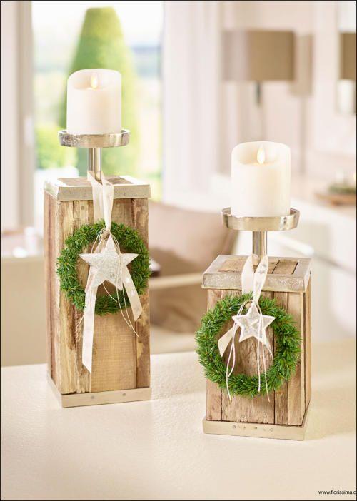 Kerzenständer mit Holzsockel