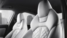 Covered in Valcona leather with contrast diamond stitching, these heated twelve-way power front sport seats include four-way power lumbar adjustment, driver seat memory and bolstered all-around support needed for spirited driving. Find more #Audis at www.carsquare.com #germanauto #european #auto #A6