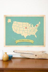 My Roots USA map Children Inspire Design