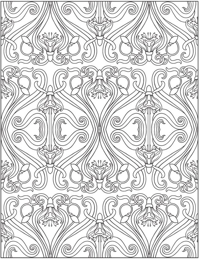 Artists Colouring Book Art Nouveau : 1695 best doodles coloring pages images on pinterest