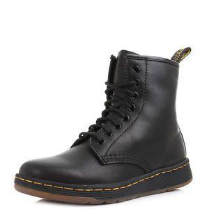 Womens-Mens-Unisex-Dr-Martens-Newton-DM-Lite-Black-Leather-Casual-Boots-UK-Size