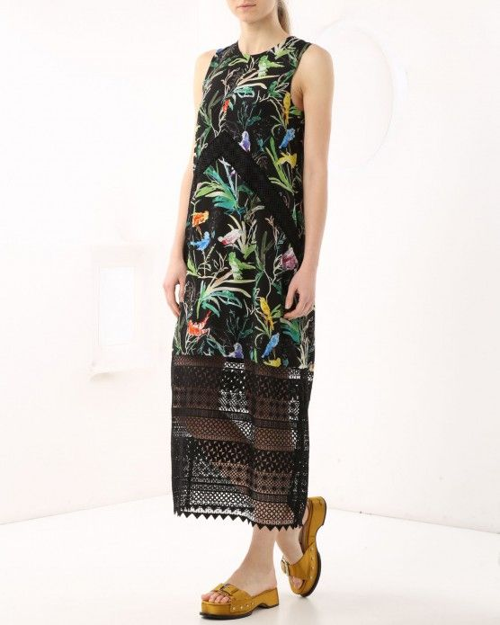 Lace dress with floral print N°21 #N21 #lace #tropical #dress #fashion #style #stylish #love #socialenvy #me #cute #photooftheday #beauty #beautiful #instagood #instafashion #pretty #girl
