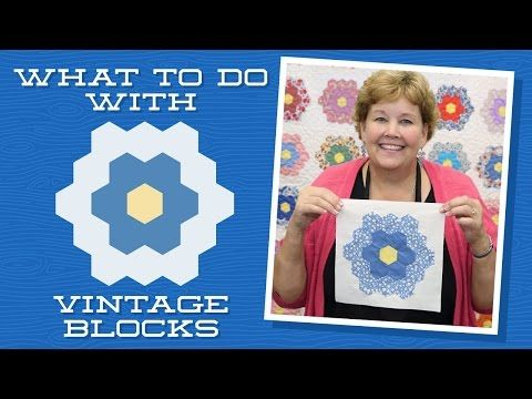 Click here for supplies: http://bit.ly/VintageBlocksQuilt Jenny demonstrates how to use old unfinished quilt blocks to make a beautiful applique quilt. She u...