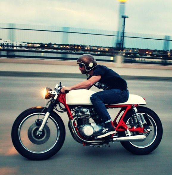 why aren't there more photos of people /riding/ motorcycles.