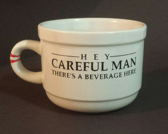 the dude thinks you should buy this cup. the big lebowski quote soup/coffee mug.