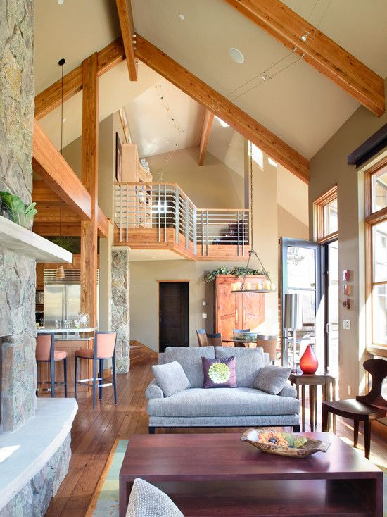 Fabulous Mountain House Design; Living Room Decoration: Modern Living Room Design Exciting Living Rooms For Mountain Homes