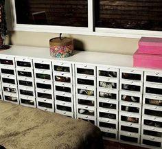 Como organizar zapatos fácilmente