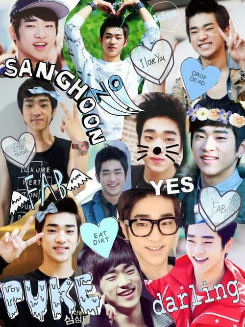 Cute baby #Sanghoon (cr. to whoever made)