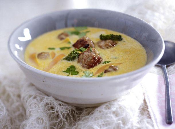 Thai-Curry-Suppe mit Fleischbällchen Rezept