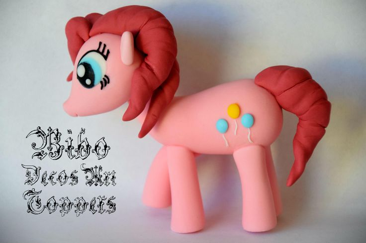 Edible 3D Little Pony Pinkie Pie Cakes Decoration Fondant Topper , Birthday , Little Pony Theme by BiboDecosArtToppers on Etsy