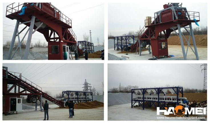 yhzs75 mobile cement concrete batching plant to Indonesia