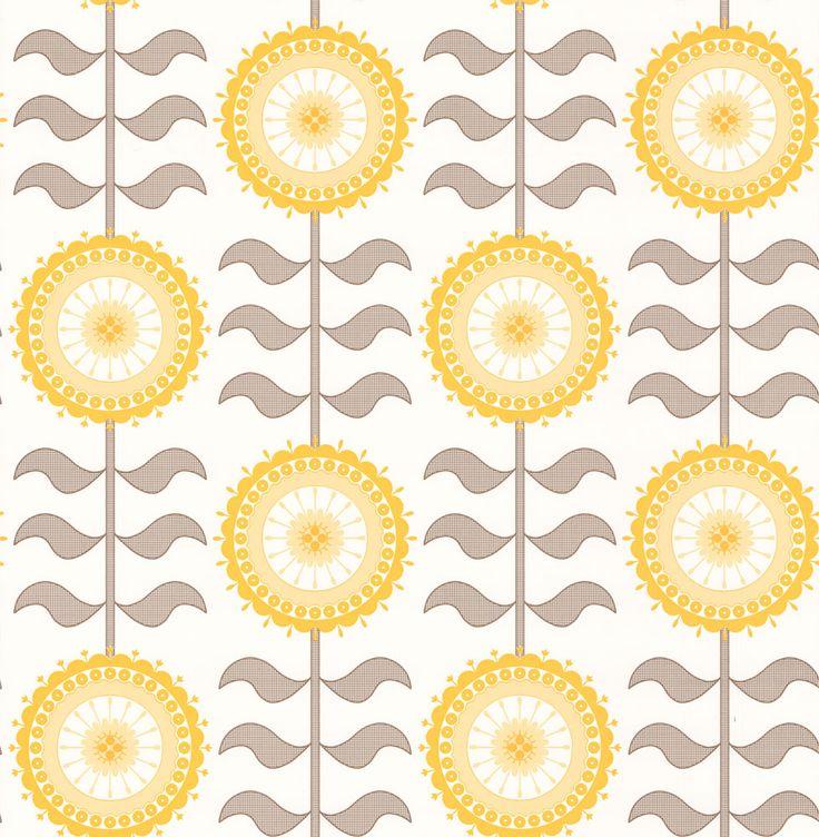 Tall Flower  Golden Haze wallpaper by Layla Faye
