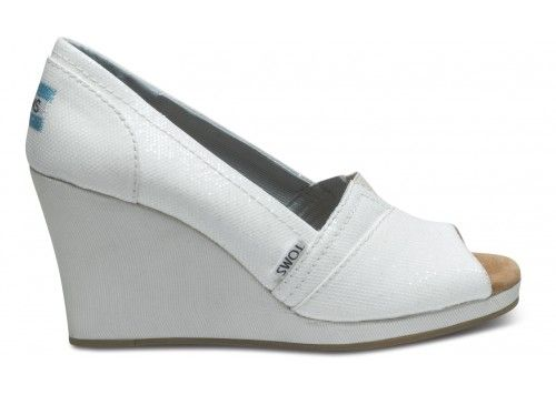 ivory glitter womens wedges toms toms reception
