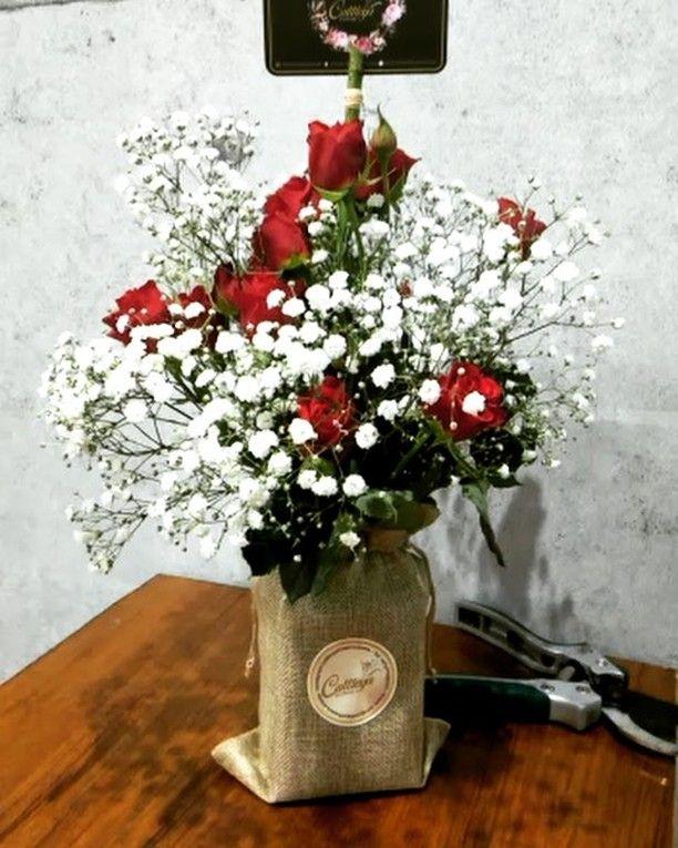 Flower Bouquet In Jute Bag Order Yours Now Via Whatsapp 55337888