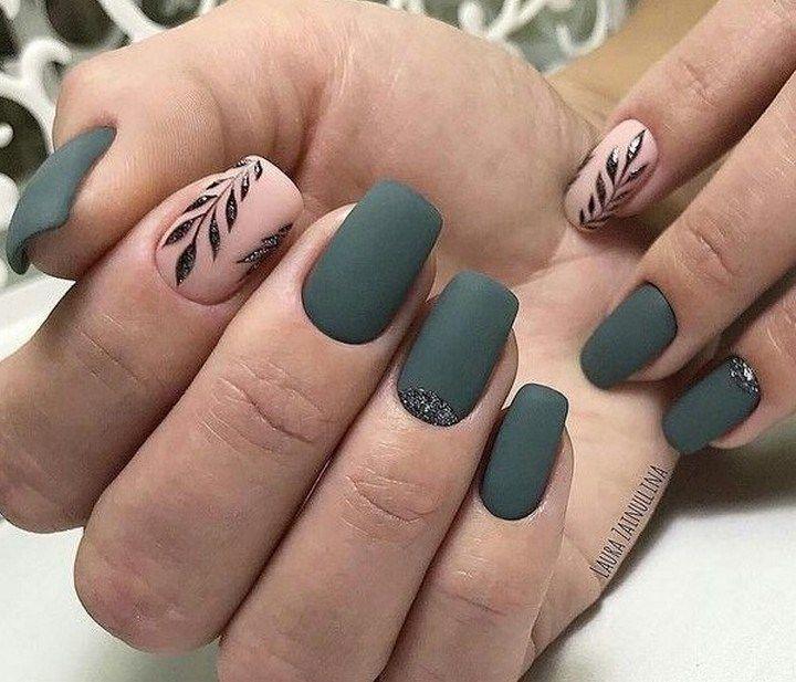 40 Inspiring Short Square Matte Acrylic Nails Design Ideas That You Must Try Shortsquarematte Matteacrylicn Matte Acrylic Nails Green Toe Nails Nail Designs