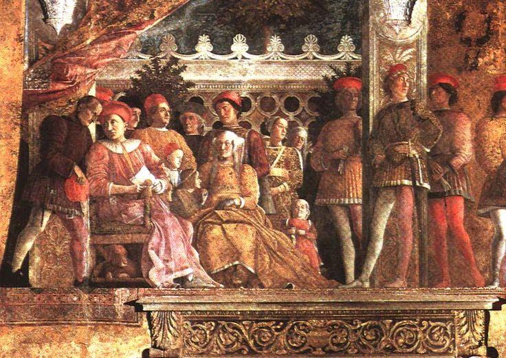 Andrea mantegna la corte dei gonzaga affresco a temoera for Famiglia parete