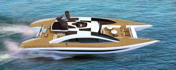 Equinox - a 45 feet #superyacht #catamaran concept designed by Andrew Trujillo, a yacht designer and Adam Younger, a naval architect & designer. http://marinesolutionsindia.blogspot.in/2014/04/equinox-45-feet-superyacht-catamaran.html