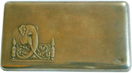 Портсигар в стиле модерн «Слон» Начало XX века
