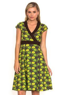Wrap Dress Shell Green