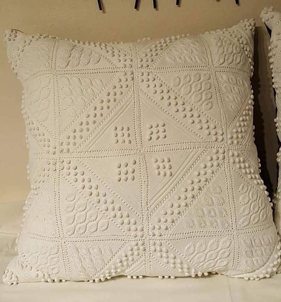 OOAK Extra Large Pillow Handmade from Exquisite Vintage