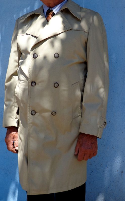 Check out that vintage trenchcoat!