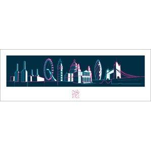 London 2012 Olympics (London Skyline) Art Print