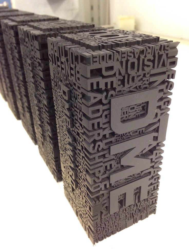 Cardiff product design and development centre PDR's 3D printed trophies for this year's Design Management Europe Awards