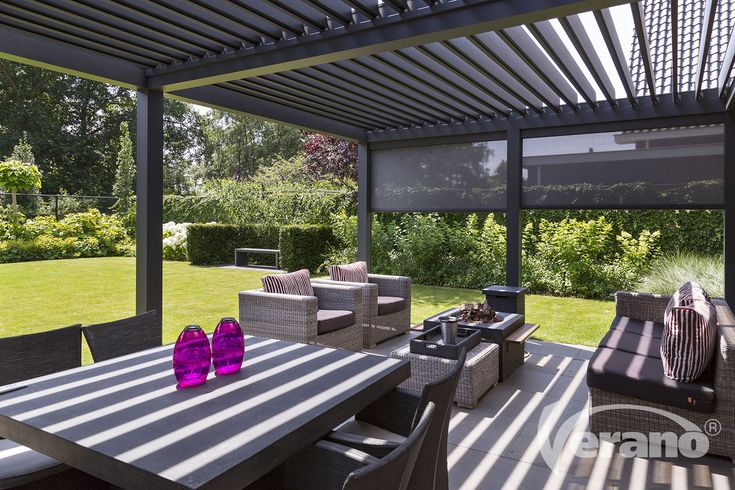 Referentie #lamellendak V860-Levanto #louveredroof #outdoorliving #reference