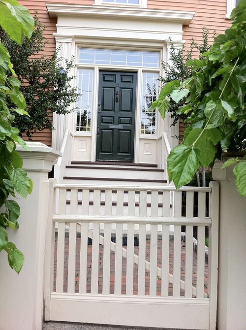 I Love The Front Gate. Up The Two Tone Steps. To The Lovely 8 Panel Door!