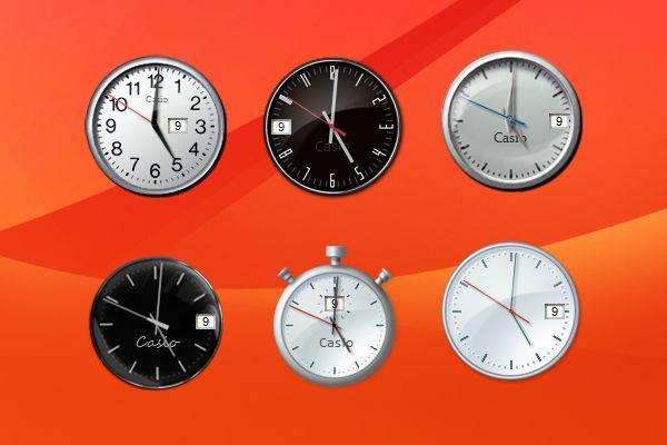 how to get windows 7 clock for desktop