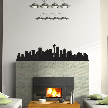 Seattle Skyline Wall Decal plus lots more...love the compass wall decal!
