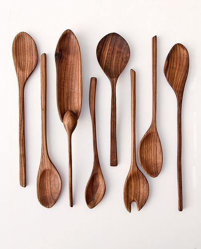 handcarved wooden spoons and serving utensils - edition 6 - black walnut