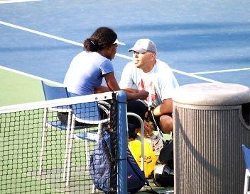 Venus Williams and golfer Hank Kuehne