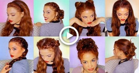 8 EASY HAIRSTYLES For Running Late!! (semi-Heatless),  #Easy #Hairstyles #late #running #semi...