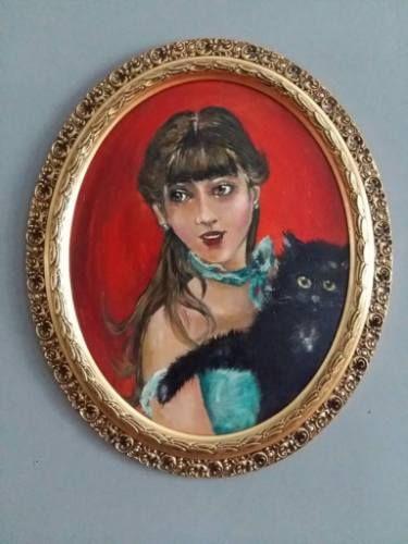 The Girl with a Black Cat - Iulia Deme